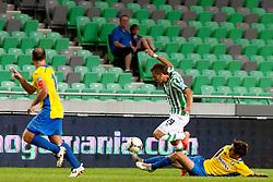 Rok Baskera #29 of Olimpija during football match between NK Olimpija and NK Celje in 6th Round of Prva liga NZS 2012/13, on August 18, 2012 in SRC Stozice, Slovenia. (Photo by Urban Urbanc / Sportida.com)