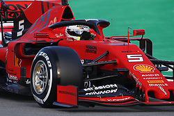 February 18, 2019 - Barcelona, Catalonia, Spain - February 18, 2019 - Circuit de Barcelona-Catalunya, Montmelo, Spain - Formula One preseason 2019; Sebastian Vettel of Scuderia Ferrari during the morning session of day 1. (Credit Image: © Eric Alonso/ZUMA Wire)