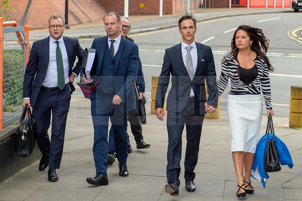 © Licensed to London News Pictures. 21/08/2019. London, UK.<br /> Ryder Cup golfer Thorbjorn Olesen arrives at Uxbridge Magistrates' court to face charges of sexual assault, Olesen is also accused of being drunk on an aircraft, urinating in the first-class aisle and common assault. Olesen has been suspended from the European Tour until the outcome of the trial. Photo credit: Peter Manning/LNP