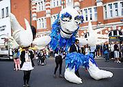 Hackney One Carnival <br /> Mare Street / Richmond Road, Hackney, London, Great Britain <br /> 13th September 2015 <br /> <br /> <br /> <br /> <br /> Photograph by Elliott Franks <br /> Image licensed to Elliott Franks Photography Services