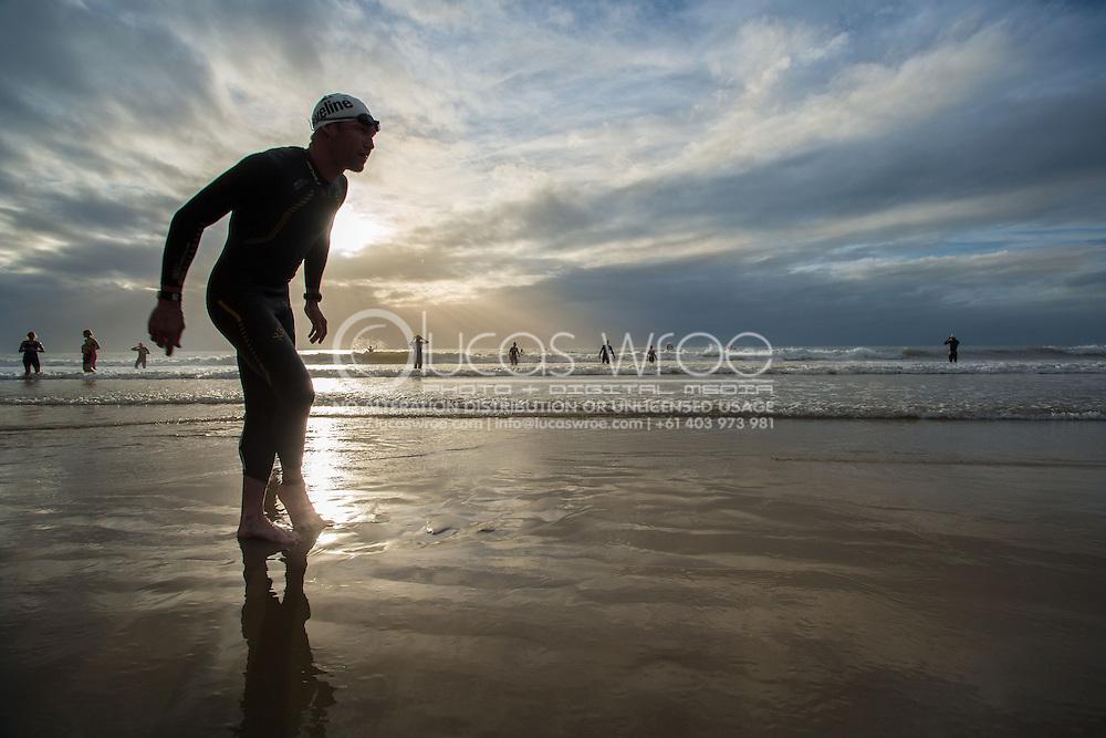Cameron Brown (NZL), June 1, 2014 - TRIATHLON : Coral Coast 5150 Triathlon, Cairns Airport Adventure Festival, Four Mile Beach, Port Douglas, Queensland, Australia. Credit: Lucas Wroe
