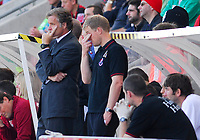 Photo: Leigh Quinnell.<br /> Bournemouth v Swansea City. Coca Cola League 1. 14/10/2007. Bournemouth manager Kevin Bond(L) not happy with his teams performance.