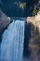 The 308 ft. Lower Falls of the Yellowstone River in the Grand Canyon Of The Yellowstone. Yellowstone National Park, Wyoming, USA.