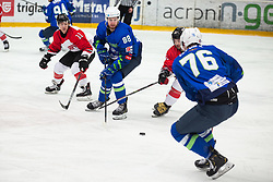 CEPON Kristjan (SLO), ZAJC Miha (SLO) vs OTSU Kosuke (JAP) during OI pre-qualifications of Group G between Slovenia men's national ice hockey team and Japan men's national ice hockey team, on February 9, 2020 in Ice Arena Podmezakla, Jesenice, Slovenia. Photo by Peter Podobnik / Sportida