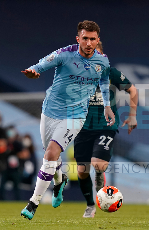 Aymeric Laporte of Manchester City in action during the Premier League match at the Etihad Stadium, Manchester. Picture date: 22nd February 2020. Picture credit should read: Andrew Yates/Sportimage