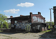 Brandenburg, GERMANY. General Views, GV's, Industrial, Derelict, Buildings, General Goods Yard, Railways, Rolling Stock, Graffiti, Signage, Thursday   05/05/2011.   [Mandatory Credit; Peter Spurrier/Intersport-images]. Street Photos