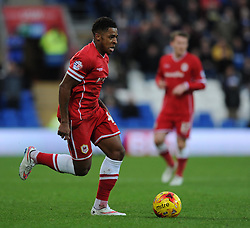 Cardiff City's Kadeem Harris in action against Brentford at Cardiff City Stadium - Photo mandatory by-line: Paul Knight/JMP - Mobile: 07966 386802 - 20/12/2014 - SPORT - Football - Cardiff - Cardiff City Stadium - Cardiff City v Brentford - Sky Bet Championship