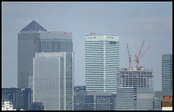 Skyscrapers of the City district of London, UK on April 23, 2013. The Office for National Statistics said its preliminary estimates for gross domestic product (GDP), showed the economy grew by 0.3% in the first three months of the year. The figure means the economy avoided two consecutive quarters of contraction - the definition of a recession, April 25, 2013. Photo by: Andrew Parsons / i-Images