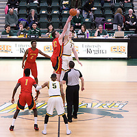 5th year forward Travis Sylvestre (7) of the Regina Cougars in action during the home game on January  27 at Centre for Kinesiology, Health and Sport. Credit: Arthur Ward/Arthur Images