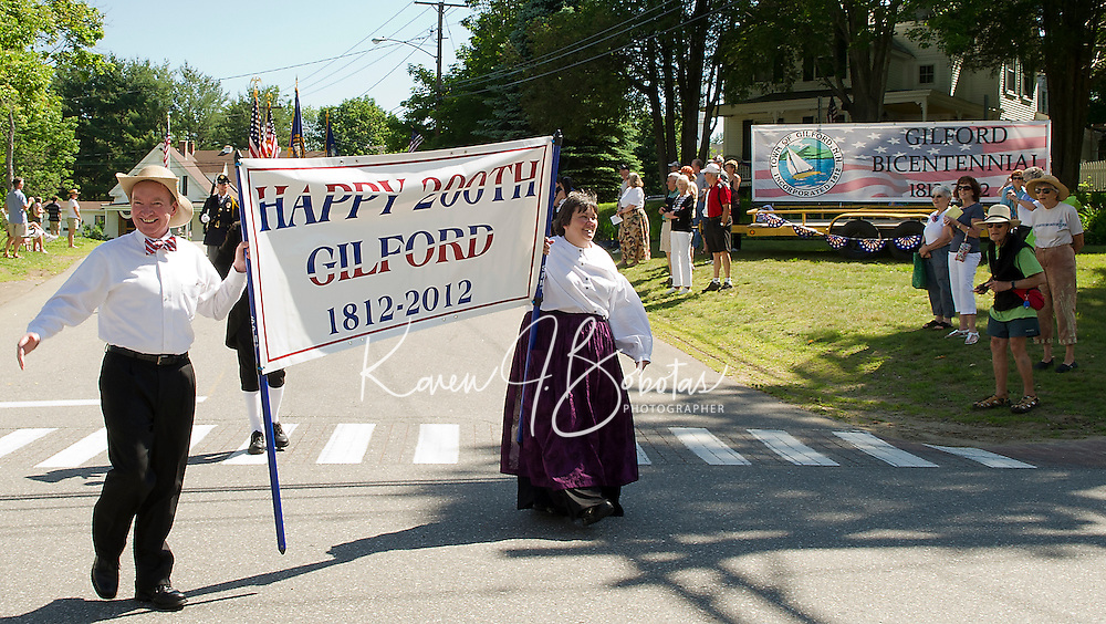 Gilford's Bicentennial celebration parade Saturday morning.  (Karen Bobotas/for the Laconia Daily Sun)