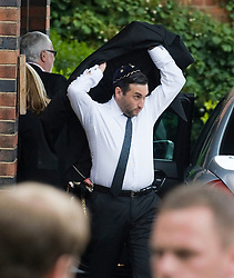 © licensed to London News Pictures.  26/07/2011. London, UK. Alex Winehouse (Brother of AMy Winehouse) arriving at the funeral service of singer Amy Winehouse at Gouldes green Crematorium in Goulders Green North London today (26/07/2011). In line with Jewish tradition, the private service took place as soon as possible after the singer's death. Photo credit Ben Cawthra/LNP
