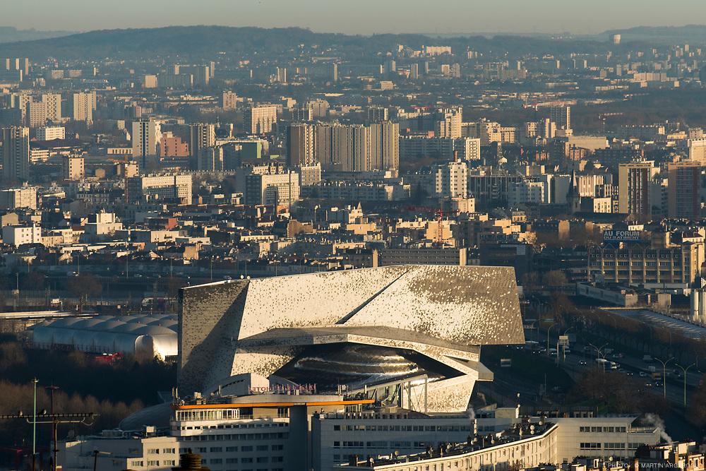 La Philharmonie de Paris, conçue par l'architecte Jean Nouvel, mars 2017.