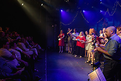 Now in its third year, Carols by Cabaret celebrates all things Christmas at Hayes Theatre Co with an evening of carols and hall-decking joy from performers who have appeared throughout the 2016 season.<br />  <br /> With all proceeds supporting local institution The Wayside Chapel, featuring performers from the 2016 productions at Hayes Theatre Co including Trevor Ashley, Marika Aubrey, Daniel Belle, Laura Bunting, Angelique Cassimatis, Martin Crewes, Helen Dallimore, Toby Francis, Virginia Gay, Kerrie-Anne Greenland, Sheridan Harbridge, Nancye Hayes, Brent Hill, Scott Irwin, Rob Johnson, James Millar, Lara Mulcahy and Jayde Westerby.<br /> <br /> Photo by Robert Catto, on Monday 12 December, 2016.