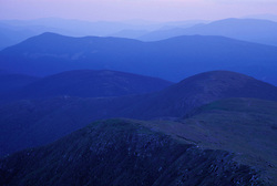 From Mt. Monroe. Appalachian Trail. Sunset in the Southern Presidentials.  White Mountain N.F., NH