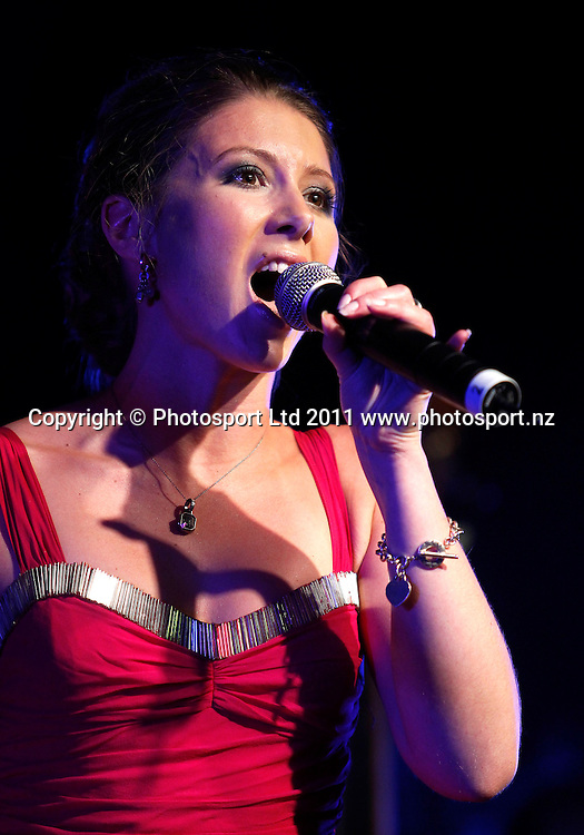 Singer Elizabeth Marvelly during the Mayoress' Charity Gala Ball, Viaduct Events Centre, Auckland, New Zealand.  Saturday 19 November 2011 . Photo: Simon Watts / photosport.co.nz