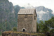 Kula (defensive tower house) in Theth, Peaks of the Balkans Trail, Albania © Rudolf Abraham