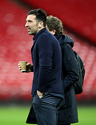 Juventus Gianluigi Buffon on the pitch before the press conference at Wembley Stadium, London.