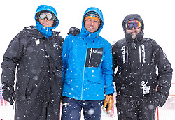 11.02.2020, Zwölferkogel, Hinterglemm, AUT, FIS Weltcup Ski Alpin, Abfahrt, Herren, 1. Training, Absage, im Bild v.l. Markus Waldner (FIS Chef Renndirektor Weltcup Ski Alpin Herren), Hannes Trinkl (FIS Renndirektor Weltcup Ski Alpin Herren), Fritz Steger (Pistenchef), // f.l. Markus Waldner Chief Race Director World Cup Ski Alpin Men of FIS Hannes Trinkl Race Director World Cup Men Speed Events of FIS Fritz Steger after the cancellationof the 1st trainingsrun of Mens Downhill of FIS Ski Alpine World Cup at the Zwölferkogel in Hinterglemm, Austria on 2020/02/11. EXPA Pictures © 2020, PhotoCredit: EXPA/ Johann Groder