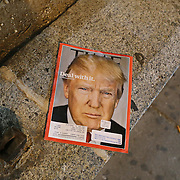 New York, US - August 29, 2015: copertina del TIME dedicata a Donald Trump
