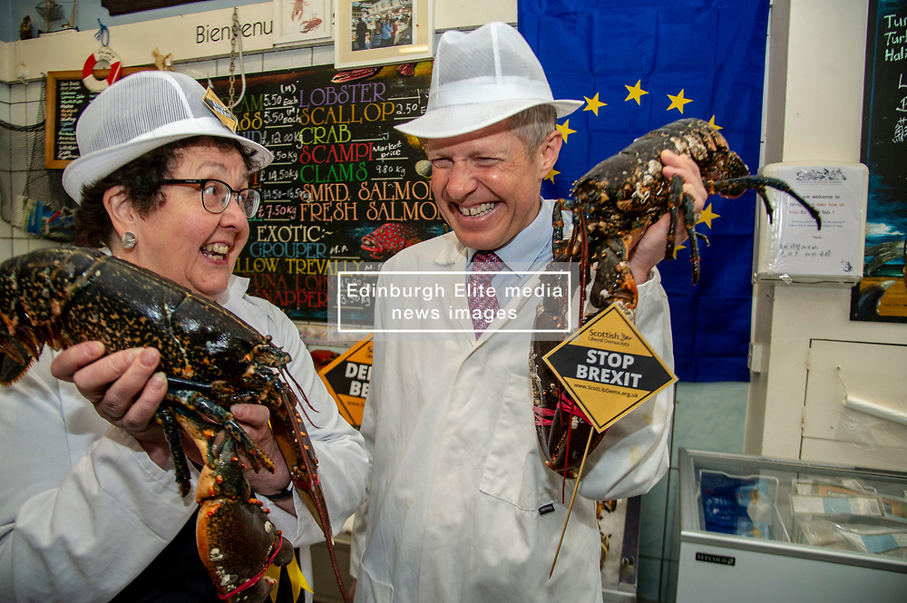 Pictured: Sheila Ritchie and Willie Rennie <br /><br />Scottish Liberal Democrat leader Willie Rennie joined Scottish Liberal Democrat MEP candidate Sheila Ritchie to mark Europe day by launching the party's European election campaign. They declared that every vote for the Liberal Democrats in these elections is a vote to stop Brexit.  <br /><br /><br /> Ger Harley | EEm 9 May 2019