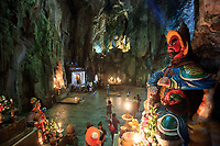 A statue lining the entrance to the Huyen Khong Cave on  Thuy Son Mountain, Da Nang, Vietnam