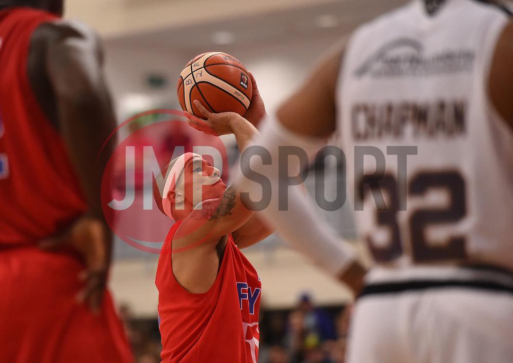 Greg Streete of Bristol Flyers  - Photo mandatory by-line: Joe Meredith/JMP - Mobile: 07966 386802 - 10/10/2015 - BASKETBALL - SGS Wise Arena - Bristol, England - Bristol Flyers v Newcastle Eagles - British Basketball League