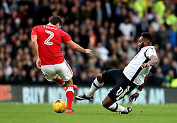 Darren Bent of Derby County makes a hard tackle on Eric Lichaj of Nottingham Forest - Mandatory by-line: Robbie Stephenson/JMP - 11/12/2016 - FOOTBALL - iPro Stadium - Derby, England - Derby County v Nottingham Forest - Sky Bet Championship