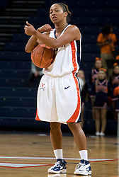 Virginia Cavaliers G Sharnee Zoll (5)..The Virginia Cavaliers women's basketball team faced Team Concept in an exhibition basketball game at the John Paul Jones Arena in Charlottesville, VA on November 5, 2007.