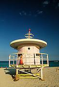 Lifeguard shack, Miami Beach, Florida.