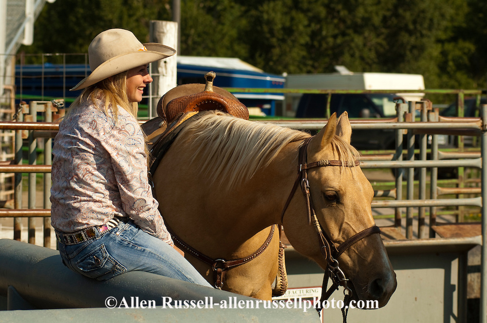 Barrel Racer, cowgirl, high school rodeo, Livingston, Montana