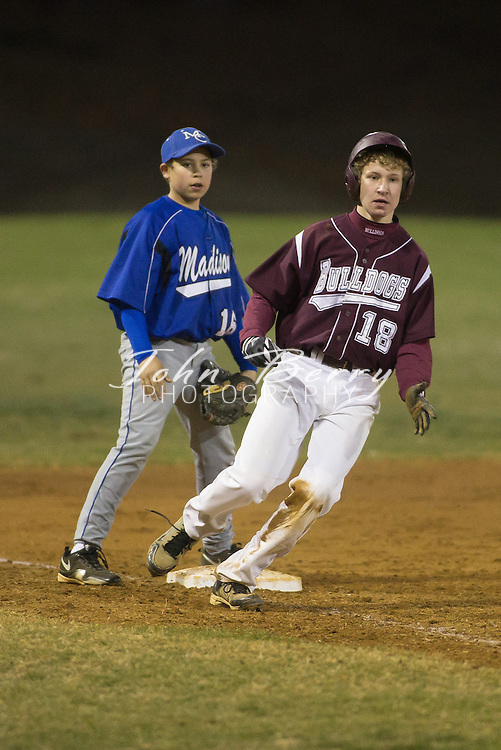 March/22/13:  MCHS JV Baseball vs Luray.  Madison led Luray 7-4 after 4 innings.