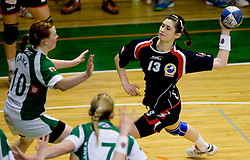Nives Ahlin of Celje at handball Slovenian cup match for 3rd place between ZRK Krka Novo mesto and ZRK Celje Celjske mesnine, on March 28, 2010, SD Leon Stukelj, Novo mesto, Slovenia.  Krka defeated Celje 35-32. (Photo by Vid Ponikvar / Sportida)