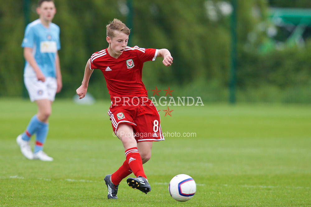 NEWPORT, WALES - Wednesday, May 27, 2015: Regional Development Boys' Keenan Patten during the Welsh Football Trust Cymru Cup 2015 at Dragon Park. (Pic by David Rawcliffe/Propaganda)