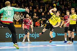 Kavcic Aleks of RK Gorenje Velenje during handball match between RK Gorenje Velenje and Abanca Ademar Leon in Round #32 of EHF Cup 2019/20, 28 February, 2020 in Rdeca Dvorana, Velenje Slovenia. Photo By Grega Valancic / Sportida
