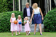 Photo shootof the Royal Family on their home De Horsten estate in Wassenaar.<br />