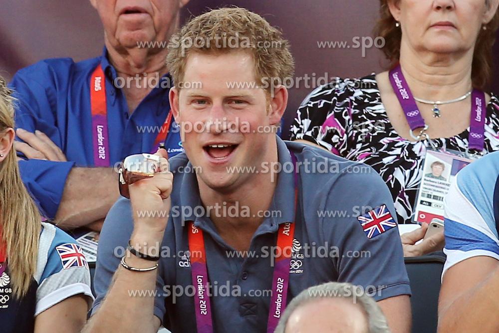 Olympics - London 2012 Olympic Games -.Beach Volleyball - Women's bronze match - Prince Harry, Prinz, Royal Family.© pixathlon