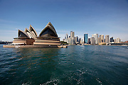 Sydney Opera House, Centre seen from aboard the ferry to Manly.