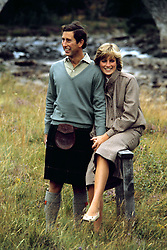 "Embargoed to 0001 Monday August 21 File photo dated 19/08/81 of the Prince and Princess of Wales in Balmoral. Diana, Princess of Wales was a woman whose warmth, compassion and empathy for those she met earned her the description the ""people's princess""."
