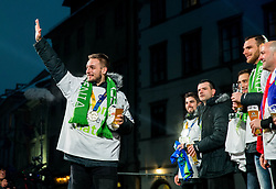 Gasper Marguc during reception of Slovenian National Handball Men team after they placed third at IHF World Handball Championship France 2017, on January 30, 2017 in Mestni trg, Ljubljana centre, Slovenia. Photo by Vid Ponikvar / Sportida