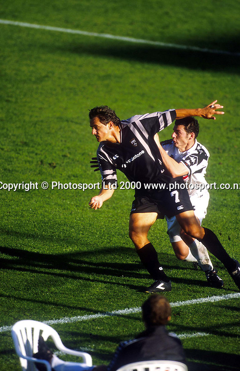 Wynton Rufer in action for the Football Kingz against Adelaide in the Australian National Soccer League 99/00. Photo: Andrew Cornaga/Photosport.co.nz