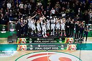 Premiazione Seconda Classificata Brindisi<br /> Umana Reyer Venezia - Happy Casa Brindisi<br /> LBA Final Eight 2020 Zurich Connect - Finale<br /> Basket Serie A LBA 2019/2020<br /> Pesaro, Italia - 16 February 2020<br /> Foto Mattia Ozbot / CiamilloCastoria