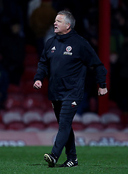 Sheffield United manager Chris Wilder celebrates at full time
