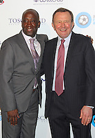 Clive Wilson & John Hollins, London Football Legends Dinner & Awards 2015, Battersea Evolution, London UK, 05 March 2015, Photo By Brett D. Cove