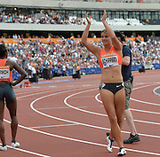 Dafne Schippers 100m winner during the Sainsbury's Anniversary Games at the Queen Elizabeth II Olympic Park, London, United Kingdom on 25 July 2015. Photo by Mark Davies.