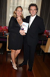 Writer IMOGEN EDWARDS-JONES and her husband KENTON ALLEN at a party to celebrate the publication of Air Babylon by Imogen Edwards-Jones held at Fifty, 50 St.James's Street, London SW1 on 4th July 2005.<br />