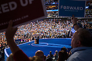 President Barack Obama speaks at the Democratic National Convention on Thursday, September 6, 2012 in Charlotte, NC.