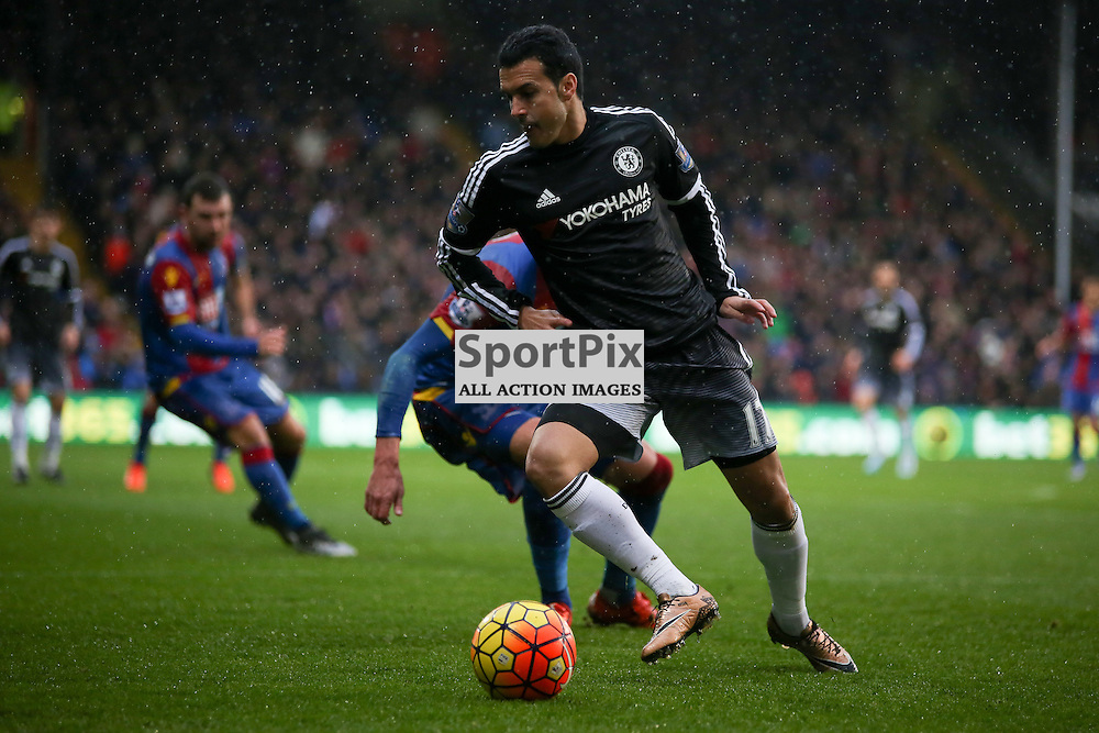 Pedro on the ball During Crystal Palace vs Chelsea Sunday 3rd January 2016