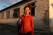 A portrait of a Kyrgyz girl