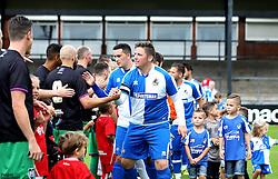 The teams shake hands ahead of the Bristol Fans Derby - Mandatory by-line: Robbie Stephenson/JMP - 04/09/2016 - FOOTBALL - Memorial Stadium - Bristol, England - Bristol Rovers Fans v Bristol City Fans - Bristol Fan Derby