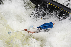 Unidentified whitewater rafters go overboard as they go through the rapids at Sweets Falls on the Gauley River during American Whitewater's Gauley Fest weekend. The upper Gauley, located in the Gauley River National Recreation Area is considered one of premier whitewater rivers in the country.
